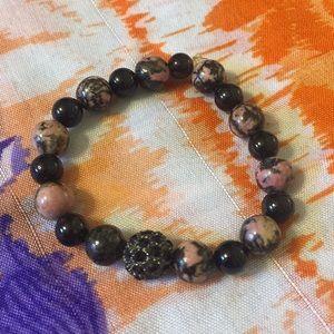 Jewelry - Gorgeous Rhodolite & Black Tourmaline Bracelet